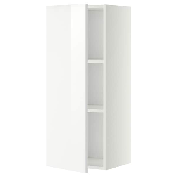 METOD Wall cabinet with shelves, white/Ringhult white, 40x100 cm