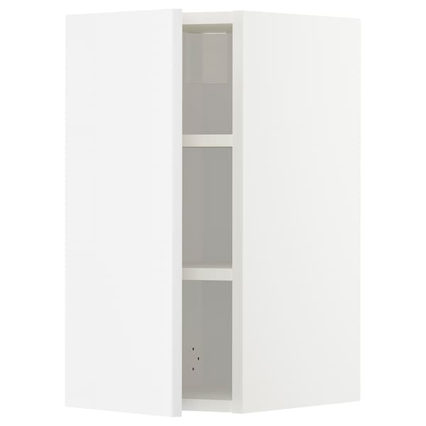 METOD Wall cabinet with shelves, white/Ringhult white, 30x60 cm
