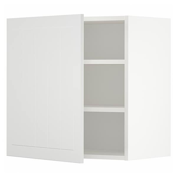 METOD Wall cabinet with shelves, white/Stensund white, 60x60 cm