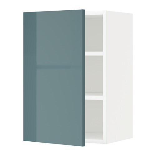 Metod wall cabinet with shelves white kallarp high for Ikea turquoise shelf