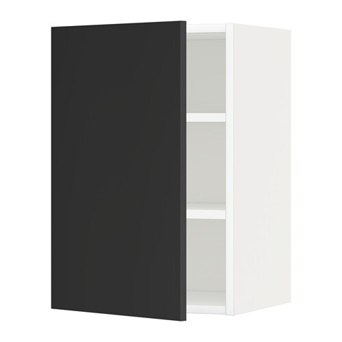 Metod Wall Cabinet With Shelves White Jarsta Black Blue