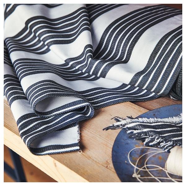 METTALISE Fabric, white/dark grey, 150 cm