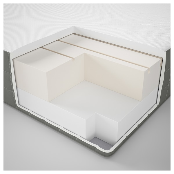 MORGEDAL Foam mattress, firm/dark grey, 140x200 cm