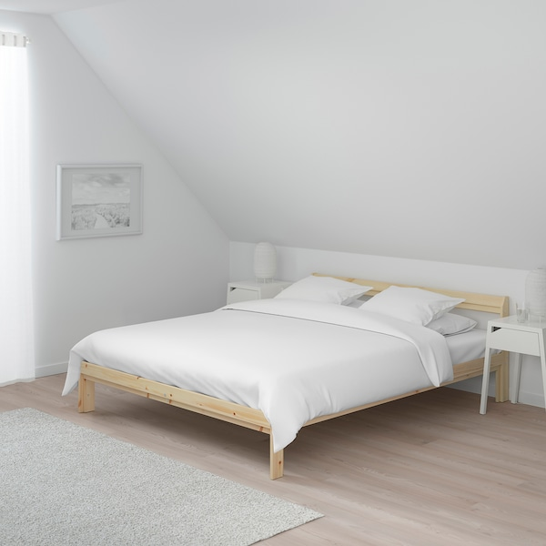 NEIDEN bed frame pine 205 cm 144 cm 30 cm 65 cm 20 cm 200 cm 140 cm