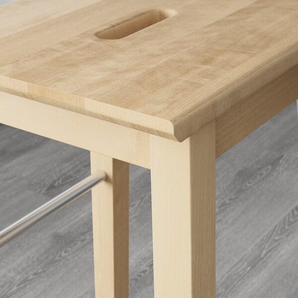 NILSOLLE bar stool birch 110 kg 39 cm 39 cm 74 cm 36 cm 33 cm 74 cm