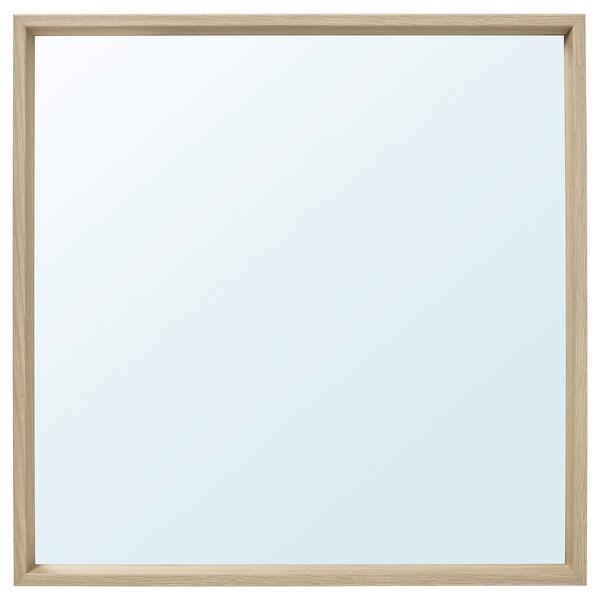 NISSEDAL mirror white stained oak effect 65 cm 65 cm