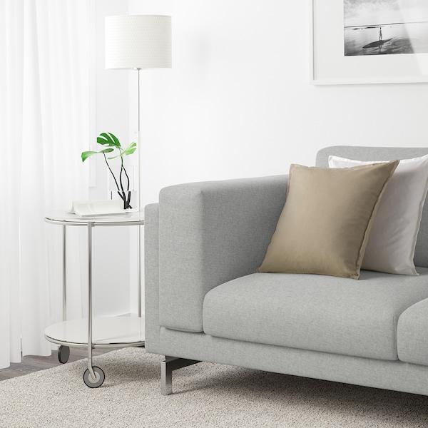 NOCKEBY 3-seat sofa with chaise longue, right/Tallmyra white/black/chrome-plated 277 cm 82 cm 97 cm 175 cm 15 cm 60 cm 138 cm 44 cm