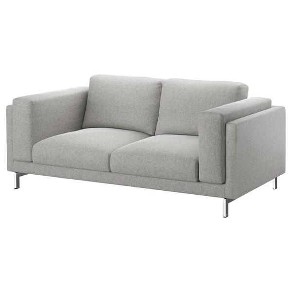 NOCKEBY cover two-seat sofa Tallmyra white/black