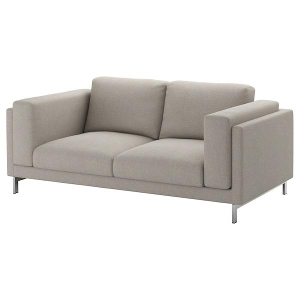 NOCKEBY Legs for 2-seat sofa, chrome-plated