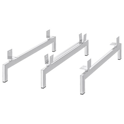 NOCKEBY Legs for 3-seat sofa, chrome-plated