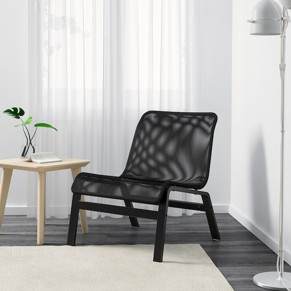 NOLMYRA easy chair black/black 64 cm 75 cm 75 cm 59 cm 46 cm 40 cm