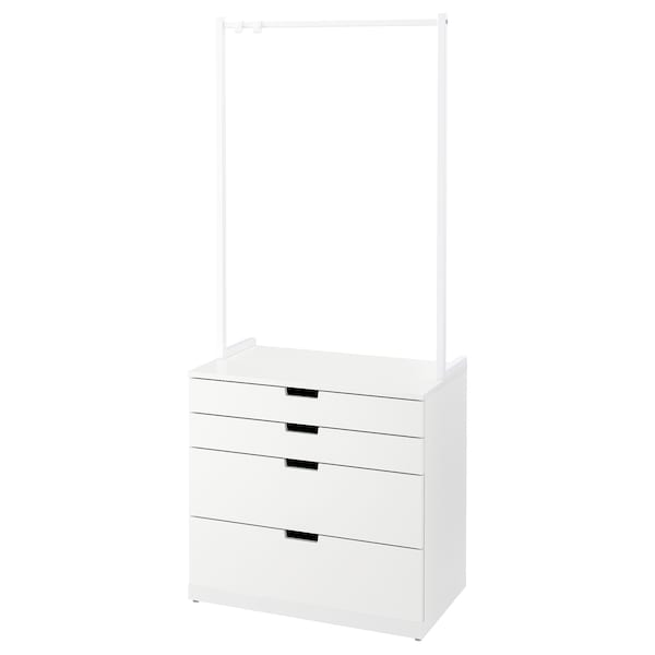 NORDLI Chest of 4 drawers, white, 80x192 cm