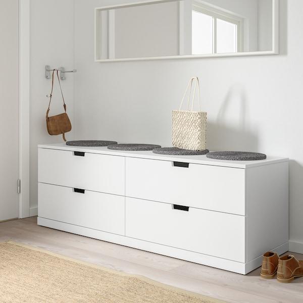 NORDLI Chest of 4 drawers, white, 160x54 cm