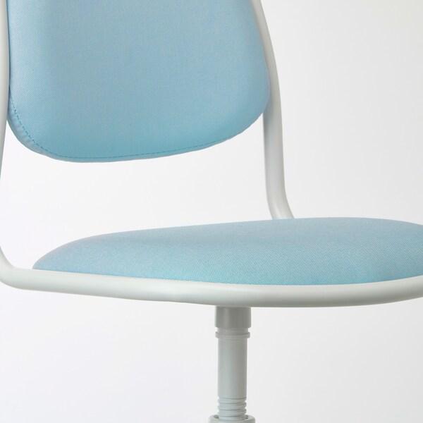 ÖRFJÄLL Children's desk chair, white/Vissle blue/green