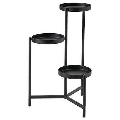 OLIVBLAD Plant stand, in/outdoor black, 58 cm