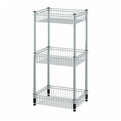 OMAR Shelving unit with 3 baskets, galvanised, 46x36x94 cm