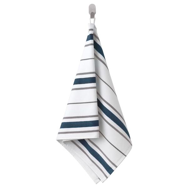 OTTSJÖN hand towel white/blue 100 cm 50 cm 0.50 m² 390 g/m²