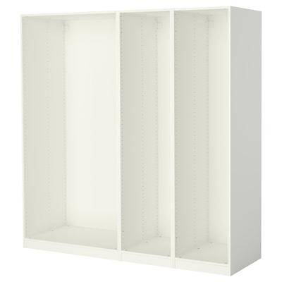 PAX 3 wardrobe frames, white, 200x58x201 cm