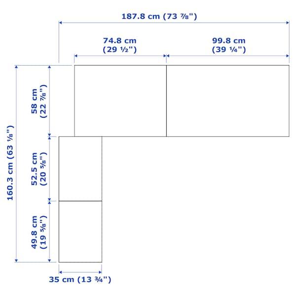 PAX Corner wardrobe, black-brown, 160/188x236 cm