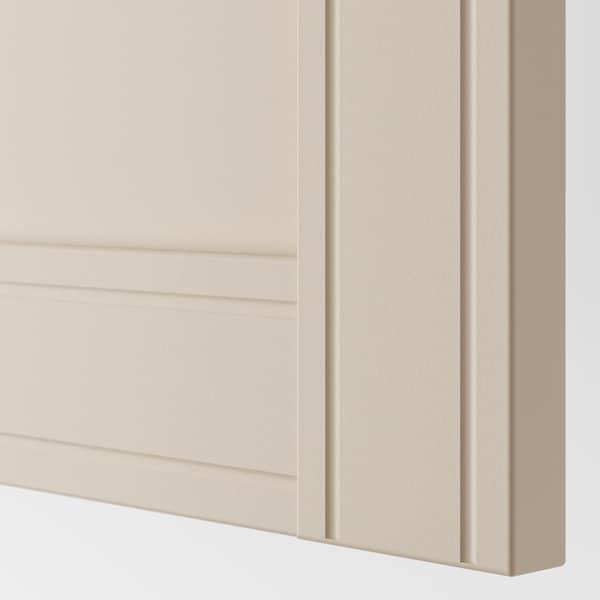 PAX corner wardrobe white/Flisberget light beige 236.4 cm 87.9 cm 160.3 cm