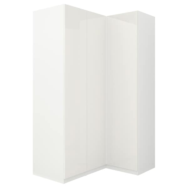 PAX corner wardrobe white/Fardal high-gloss/white 236.4 cm 110.5 cm 160.3 cm