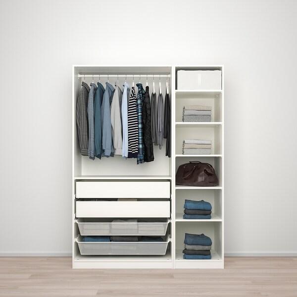 PAX / FARDAL/VIKEDAL Wardrobe combination, high-gloss white/mirror glass, 150x60x201 cm