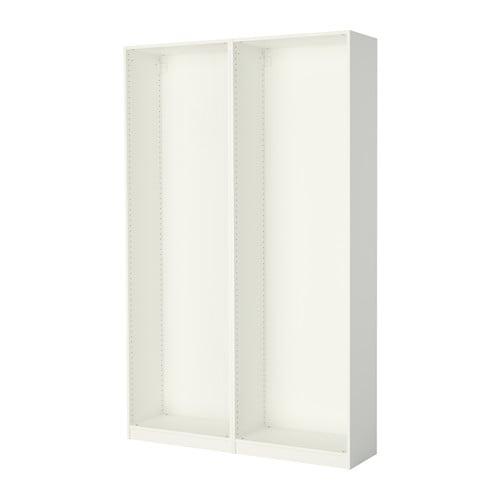 Pax 2 Wardrobe Frames White