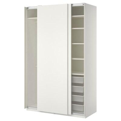 PAX Wardrobe, white/Hasvik white, 150x66x236 cm