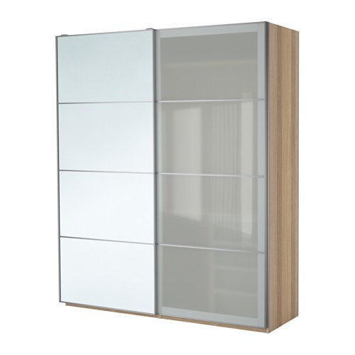 Ikea Pax 3 Ante Scorrevoli.Pax Wardrobe White Stained Oak Effect Auli Sekken