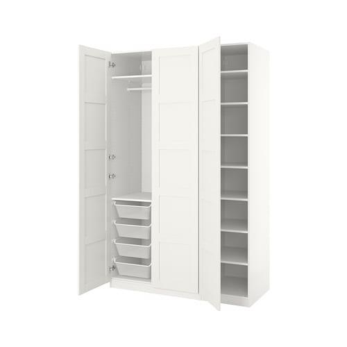 check out 2c649 977f2 PAX Wardrobe, white, Bergsbo white