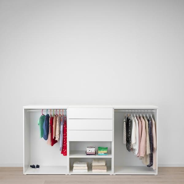 PLATSA wardrobe white/Fonnes Sannidal 240 cm 57 cm 123 cm