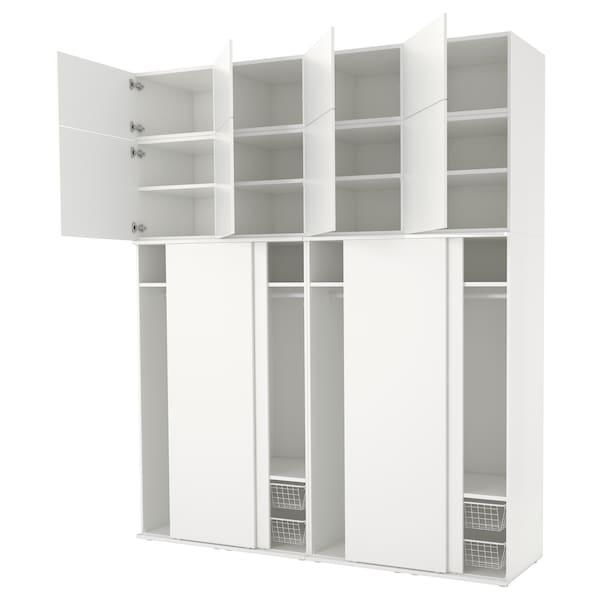 PLATSA wardrobe white/Fonnes white 240 cm 61 cm 281.1 cm