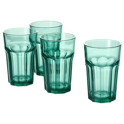 POKAL glass green 14 cm 35 cl 4 pack