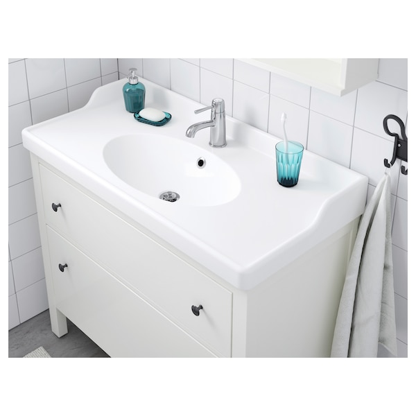 RÄTTVIKEN single wash-basin white 102 cm 100 cm 49 cm 10 cm 6 cm