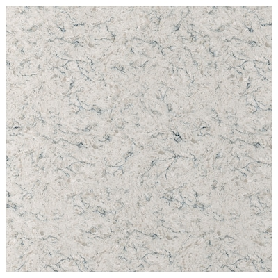 RÅHULT Custom made wall panel, light beige/grey/marble effect quartz, 1 m²x1.2 cm