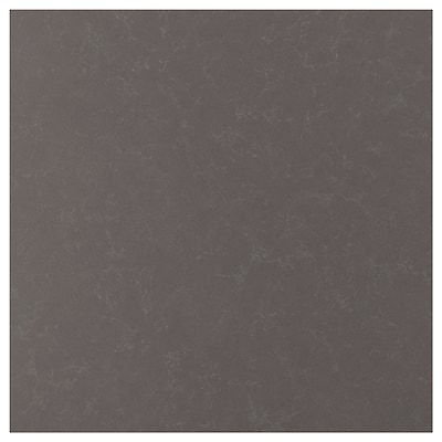 RÅHULT Custom made wall panel, matt dark grey/marble effect quartz, 1 m²x1.2 cm
