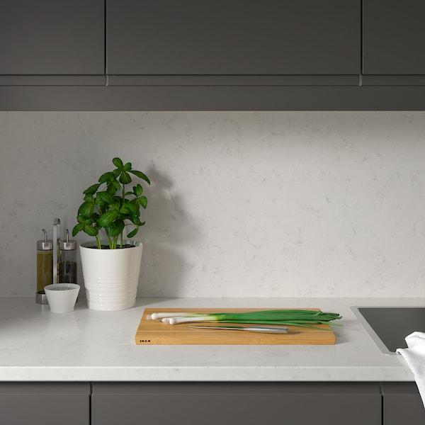 RÅHULT custom made wall panel white marble effect/quartz 10 cm 300 cm 10 cm 120 cm 1.2 cm 1.00 m²