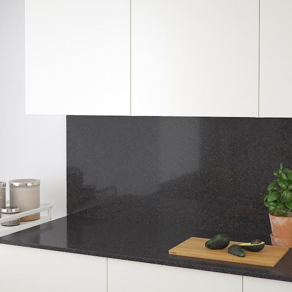 RÅHULT custom made wall panel anthracite mineral effect/quartz 10 cm 300 cm 10 cm 120 cm 1.2 cm 1.00 m²