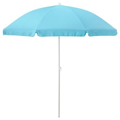 RAMSÖ Parasol, adjustable/blue, 160 cm