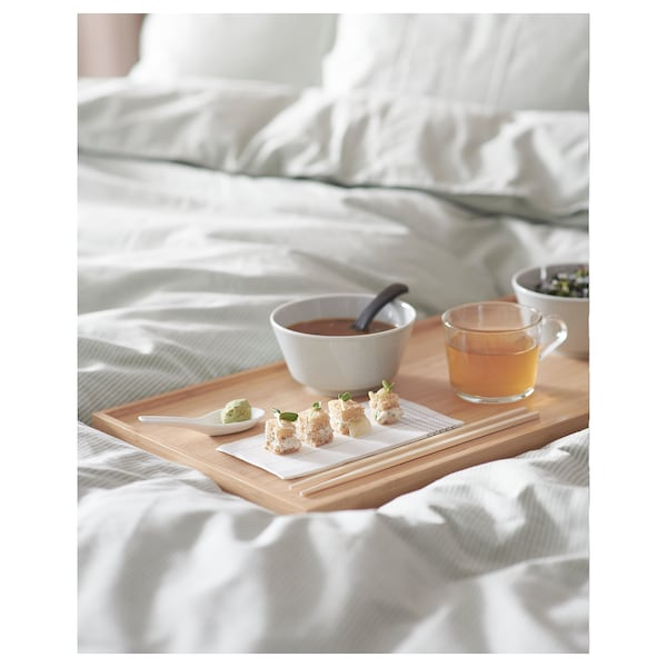 RESGODS bed tray bamboo 52 cm 29 cm 25.5 cm