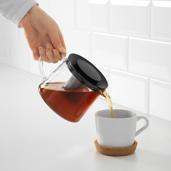 RIKLIG teapot glass 10 cm 0.6 l