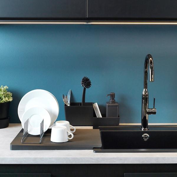 RINNIG soap dispenser grey 18 cm 450 ml