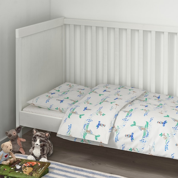 RÖDHAKE 3-piece bedlinen set for cot sailing mouse 60 cm 120 cm