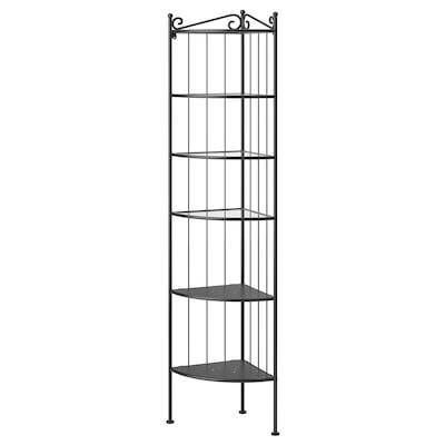 RÖNNSKÄR corner shelf unit black 37 cm 37 cm 176 cm