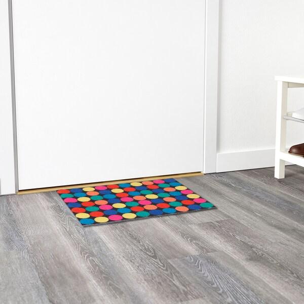 RORSLEV door mat multicolour 60 cm 40 cm 6 mm 0.24 m² 1110 g/m² 450 g/m² 4 mm