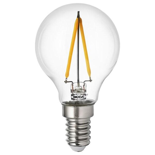 RYET LED bulb E14 100 lumen globe clear 2700 K 100 lm 45 mm 0.9 W