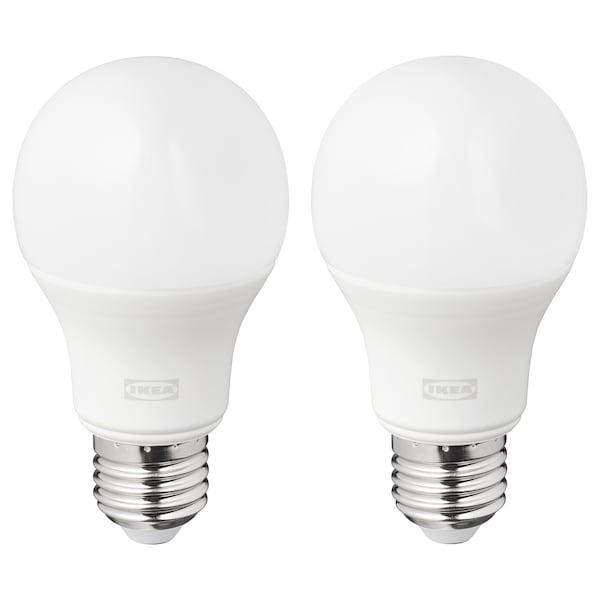 RYET LED bulb E27 1055 lumen globe opal white 2700 K 1055 lm 60 mm 10 W 2 pack