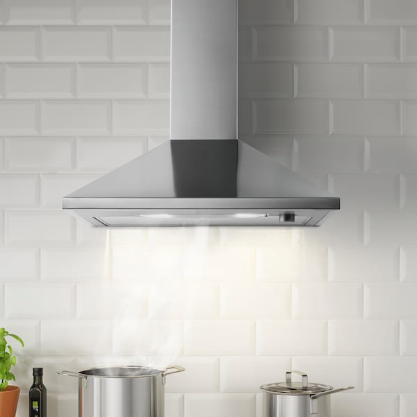 RYTMISK wall mounted extractor hood stainless steel 99.5 cm 62.0 cm 99.5 cm 71.5 cm 60.0 cm 47.1 cm 1.09 m 6.40 kg 16.7 cm 16.9 cm