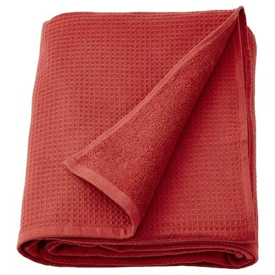 SALVIKEN Bath sheet, brown-red, 100x150 cm