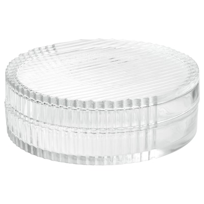 SAMMANHANG glass box with lid clear glass 6 cm 18 cm